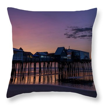Old Orchard Beach  Throw Pillow