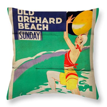 Old Orchard Beach - Folded Throw Pillow