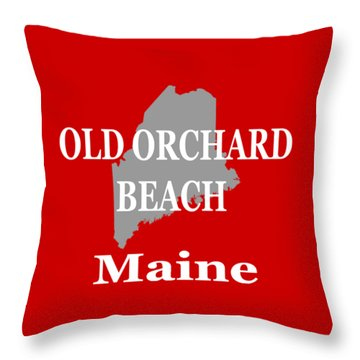 Throw Pillow featuring the photograph Old Orchard Beach Maine State City And Town Pride  by Keith Webber Jr