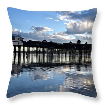 Old Orchard Beach Pier Throw Pillow