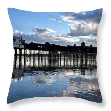 Old Orchard Beach Pier Throw Pillow