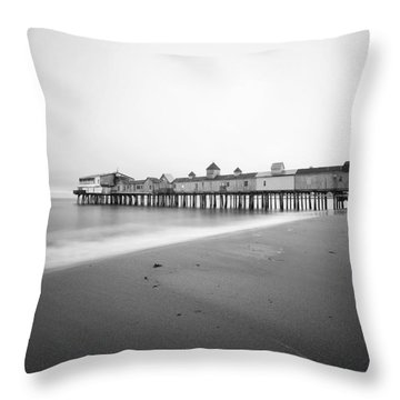 Old Orchard Beach Pier Throw Pillow by Eric Gendron