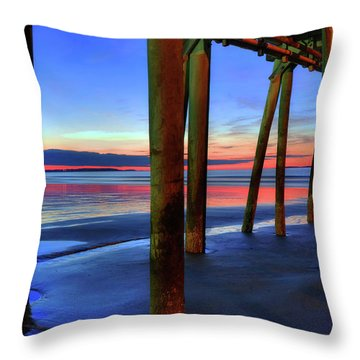 Throw Pillow featuring the photograph Old Orchard Beach Pier -maine Coastal Art by Joann Vitali