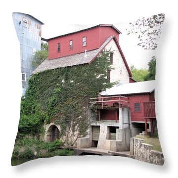 Old Oxford Mill Throw Pillow