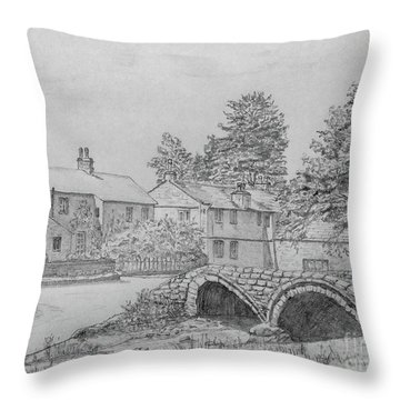 Old Packhorse Bridge Wycoller Throw Pillow