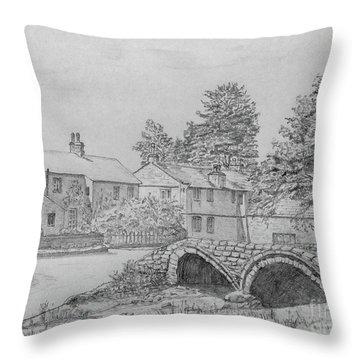 Old Packhorse Bridge Wycoller Throw Pillow