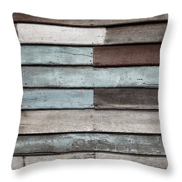 Old Pale Wood Wall Throw Pillow