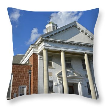 Old Paradise Elementary School Throw Pillow
