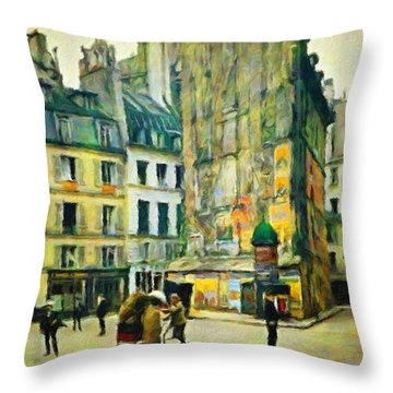 Old Paris Throw Pillow by Vincent Monozlay