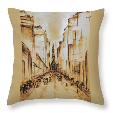 Old Philadelphia City Hall 1920 Throw Pillow