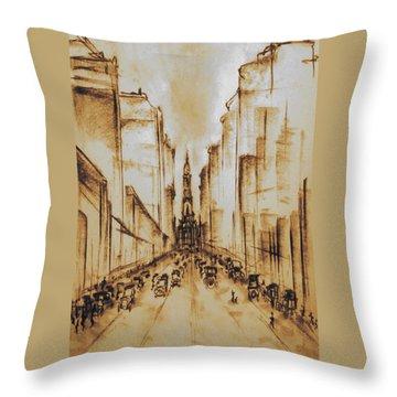 Old Philadelphia City Hall 1920 Throw Pillow