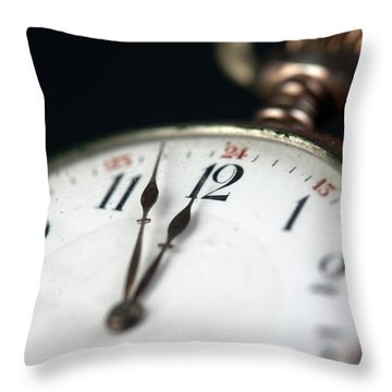 Old Pocketwatch Throw Pillow