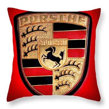 Old Porsche Badge Throw Pillow