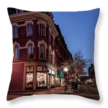 Old Port, Portland Maine Throw Pillow