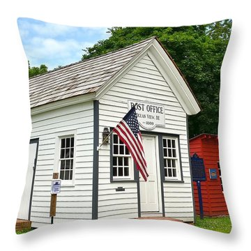 Old Post Office - Ocean View Delaware Throw Pillow