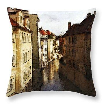 Old Prague Throw Pillow by Jo-Anne Gazo-McKim