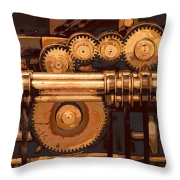 Old Printing Press Throw Pillow