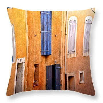 Throw Pillow featuring the photograph Old Provence Village Street by Olivier Le Queinec