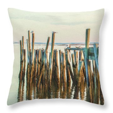 Old Provincetown Wharf Throw Pillow