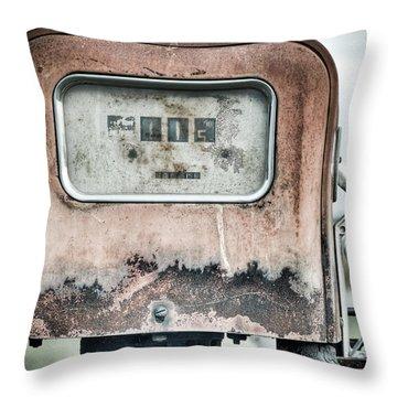 Old Pump Throw Pillow