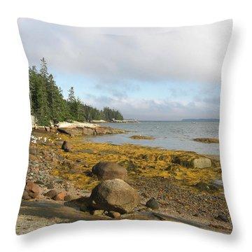 Old Quarry Beach, Stonington, Me Throw Pillow