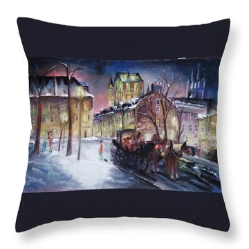 old Quebec Throw Pillow