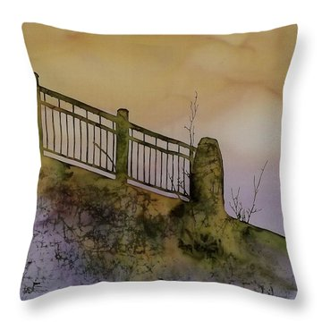 Old Railroad Bridge II Throw Pillow