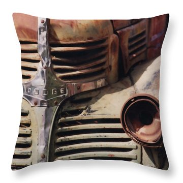 Old Ranch Truck Throw Pillow by Art Block Collections