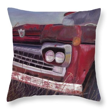 Old Red Throw Pillow by Arlene Crafton