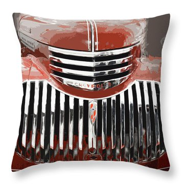 Old Red Chev Throw Pillow