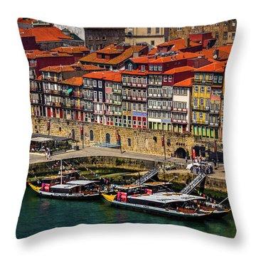 Old Ribeira Porto  Throw Pillow
