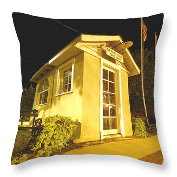 Old Ridgeway Police Station Throw Pillow