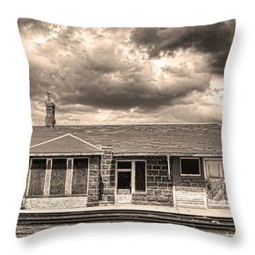 Old Rio Grande Train Stop Throw Pillow by James BO  Insogna