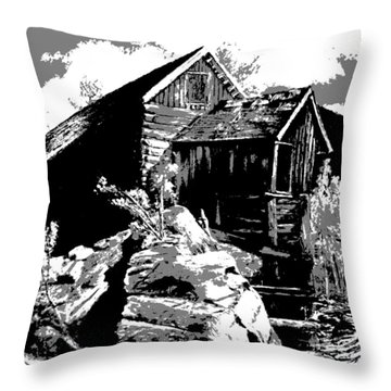 Old Rocky Mill Throw Pillow