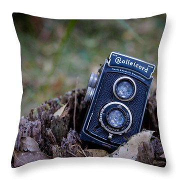 Throw Pillow featuring the photograph Old Rollei by Keith Hawley
