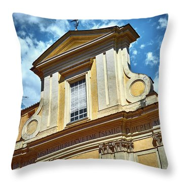 Old Roman Building Throw Pillow