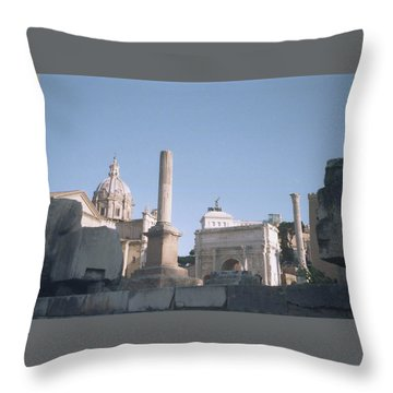 Old Rome Throw Pillow