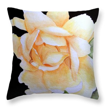 Old Rose In Yellow Throw Pillow