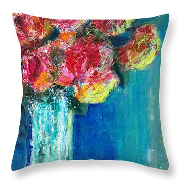 Old Roses Throw Pillow