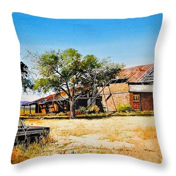 Old Route 66 Throw Pillow