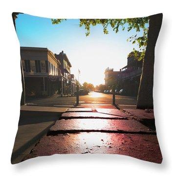 Old Sacramento Smiles- Throw Pillow