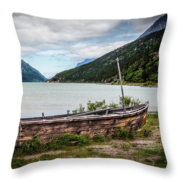 Old Sailboat Throw Pillow