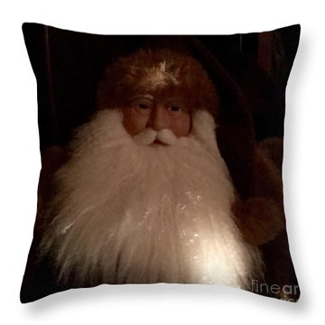 Old Saint Nick Throw Pillow by Patricia E Sundik
