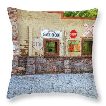 Old Saloon Wall Throw Pillow