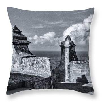 Old San Jaun Fort Throw Pillow