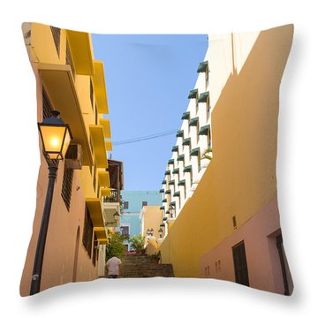 Old San Juan Alleyway Throw Pillow