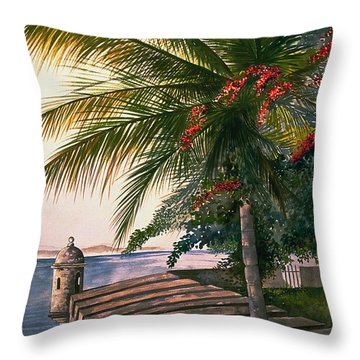 Old San Juan  Throw Pillow by George Bloise