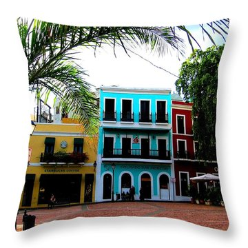 Throw Pillow featuring the photograph Old San Juan Pr by Michelle Dallocchio