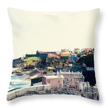 Old San Juan Puerto Rico Throw Pillow