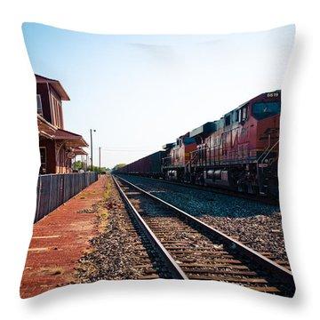 Old Santa Fe Depot Throw Pillow